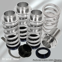00 01 02 03 04 FORD FOCUS JDM ADJUSTABLE COILOVER LOWERING SPRINGS SILVER