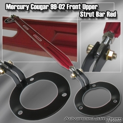 99 00 01 02 MERCURY COUGAR FRONT UPPER STRUT BAR RED