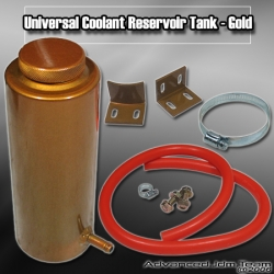 UNIVERSAL JDM COOLANT RESERVOIR OVERFLOW TANK GOLD