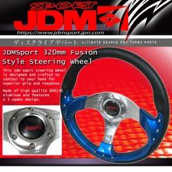 JDM SPORT BLUE FUSION RACING STEERING WHEEL 320MM