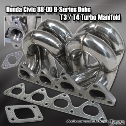 HONDA CIVIC SI INTEGRA B SERIES ENGINE EQUAL LENGTH STAINLESS STEEL TURBO MANIFOLD