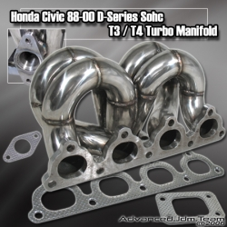 HONDA CIVIC D SERIES ENGINE EQUAL LENGTH STAINLESS STEEL TURBO MANIFOLD