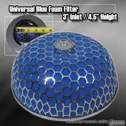 """UNIVERSAL 3"""" BLUE FOAM AIR FILTER"""
