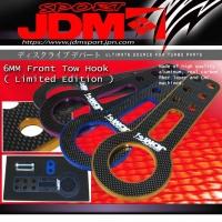 JDM SPORT 6mm Front Purple Tow Hook Kit w/ Carbon Fiber *LIMITED EDITION*