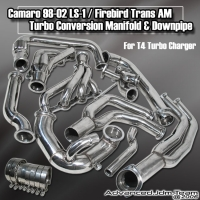 CHEVY CAMARO PONTIAC FIREBIRD LS1 98 99 00 01 02 TURBO MANIFOLD AND DOWNPIPE CONVERSION