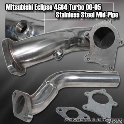 MITSUBISHI ECLIPSE 4G64 00 01 02 03 04 05 STAINLESS STEEL TURBO DOWNPIPE T3 STANDARD 5 BOLT OUTLET W/ WASTEGATE BLOW DOWN TUBE
