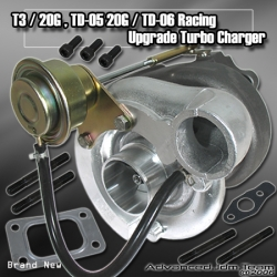 T3 / 20G Hybrid Turbo Charger w/ Internal Wastegate T3 Type Turbine w/ 20G Compressor