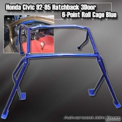 HONDA CIVIC 92 93 94 95 HB HATCHBACK 6 POINT ROLL CAGE BLUE