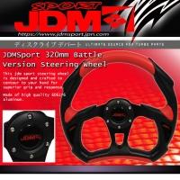 BATTLE VERSION RACING STEERING WHEEL BLACK / RED 320MM