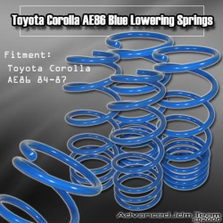 84 85 86 87 TOYOTA COROLLA AE86 LOWERING SPRINGS BLUE