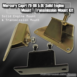 79 80 81 82 83 84 85 86 MERCURY CAPRI 5.0L SOLID ENGINE MOTOR & TRANSMISSION MOUNT KIT