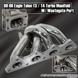 89 90 91 92 93 94 95 96 97 98 EAGLE TALON TURBO STAINLESS STEEL T3/T4 TURBO MANIFOLD W/ WASTEGATE PORT