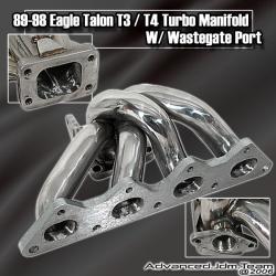 89 90 91 92 93 94 95 96 97 98 EAGLE TALON TURBO STAINLESS STEEL T3/T4 TURBO MANIFOLD W/ WASTEGATE PORT
