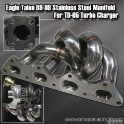 EAGLE TALON 89 90 91 92 93 94 95 96 97 98 Stainless Steel Turbo Manifold TD05 / Evo 1 2 3