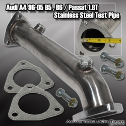 "96 97 98 99 00 01 02 03 04 05 AUDI A4 / B5 / B6 / PASSAT 1.8T STAINLESS STEEL TEST PIPE / DOWNPIPE 2.5"" INLET"