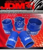 JDM SPORT 3.5 INCHES BELLOW REINFORCE SILICONE HOSE BLUE 3 LAYERS POLYESTER COUPLER