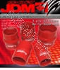 JDM SPORT 3.25 INCHES BELLOW REINFORCE SILICONE HOSE RED 3 LAYERS POLYESTER COUPLER