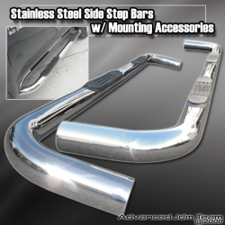 05 06 07 08 09 DODGE DAKOTA QUAD CAB STAINLESS STEEL SIDE STEP NERF BAR