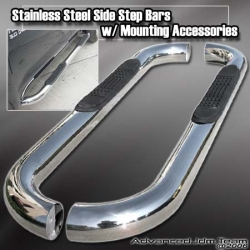04 05 06 07 08 FORD F150 XL REGULAR CAB SIDE STEP STAINLESS STEEL NERF BARS