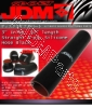 JDM SPORT 3 INCHES INLET 12 INCHES LONG STRAIGHT REINFORCE SILICONE HOSE BLACK 3 LAYERS POLYESTER COUPLER