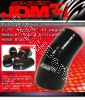 JDM SPORT 2.75 INCHES TO 3.75 INCHES 45 DEGREE REINFORCE SILICONE HOSE BLACK 4 LAYERS POLYESTER COUPLER