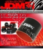 JDM SPORT 2.5 INCHES STRAIGHT REINFORCE SILICONE HOSE BLACK 4 LAYERS POLYESTER COUPLER