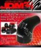 JDM SPORT 3 - 3.75 INCHES 90 DEGREE REINFORCE SILICONE HOSE REDUCER BLACK 4 LAYERS POLYESTER COUPLER