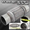 """10"""" x 3"""" DOUBLE BRAIDED STAINLESS STEEL 6"""" FLEX PIPE EXHAUST PIPING ADAPTER"""