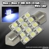 1 Pair of 12 Super Bright 10mm x 36mm SMD LED Dome Bulb White