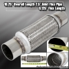 "12"" x 2.5"" DOUBLE BRAIDED STAINLESS STEEL 8"" FLEX PIPE EXHAUST PIPING ADAPTER"