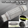 "12"" x 3"" DOUBLE BRAIDED STAINLESS STEEL 8"" FLEX PIPE EXHAUST PIPING ADAPTER"