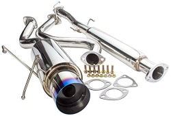 "2.5"" to 3"" Piping Catback Exhaust System with 4.5"" N1 Burn Tip For 1994-2001 Acura Integra LS RS GS"