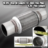 """10"""" x 2.5"""" DOUBLE BRAIDED STAINLESS STEEL 6"""" FLEX PIPE EXHAUST PIPING ADAPTER"""