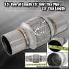 """8.5"""" x 2.5"""" DOUBLE BRAIDED STAINLESS STEEL 4"""" FLEX PIPE EXHAUST PIPING ADAPTER"""