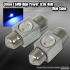 1 Pair of 1 Super Bright 31mm 1W SMD LED Dome Bulb Blue