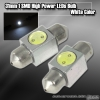 1 Pair of 1 Super Bright 31mm 1W SMD LED Dome Bulb White