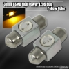 1 Pair of 1 Super Bright 31mm 1W SMD LED Dome Bulb Yellow