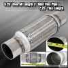 """8"""" x 3"""" DOUBLE BRAIDED STAINLESS STEEL 4"""" FLEX PIPE EXHAUST PIPING ADAPTER"""
