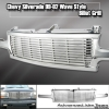 99 00 01 02 CHEVY SILVERADO BILLET STYLE GRILLE CHROME