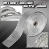 EXHAUST HEAT WRAP 10M x 50MM WIDTH x 1.5MM THICKNESS SILVER
