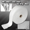 EXHAUST HEAT WRAP 10M x 50MM WIDTH x 1.5MM THICKNESS WHITE