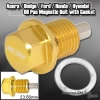 GOLD ANODIZED MAGNETIC OIL DRAIN PLUG BOLT M14 X 1.5MM THREADED