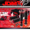 JDM SPORT 08 09 10 11 SUBARU IMPREZA GRB STI FULLY ADJUSTABLE SUSPENSION DAMPER RED COILOVER SYSTEM
