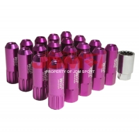 JDM Sport Extended Lug Nuts 12MM X 1.25 Purple (16Piece) w/ 4 Piece Lock and Key