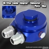 OIL COOLER ADAPTER / RELOCATER KIT BLUE - 10AN FITTING