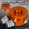 OIL COOLER ADAPTER / RELOCATER KIT GOLD - 10AN FITTING