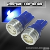 1 PAIR OF 1 T10 SMD LED BULB BLUE