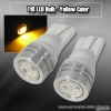 1 PAIR OF 1 T10 SMD LED BULB YELLOW