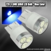 1 PAIR OF 3 SUPER BRIGHT T20 SMD LEDS BULB BLUE