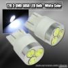 1 PAIR OF 3 SUPER BRIGHT T20 SMD LEDS BULB WHITE